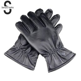 10689a2fd0f7b cycling leather fingerless gloves Canada - New Syle Winter Gloves Me Men  Faux Suede Leather Gloves