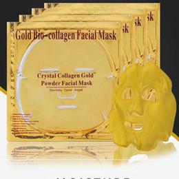 2019 золотые изделия для лица DHL бесплатно золото био коллаген маска для лица Маска Кристалл золотой порошок коллагеновая маска для лица листы увлажняющий красоты Уход за кожей дешево золотые изделия для лица