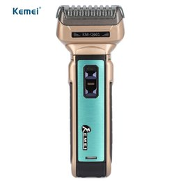 Wholesale Electric Travel Razors - Hot Kemei Portable Electric Shaver EU Plug with Hair Cutter Twin Blades Multi-function Travel Use Safe Razor for Men KM-Q601