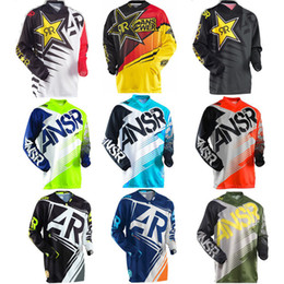 Wholesale Riding Shirt Motorcycle - 2017 New ANSR Speed Bike Riding Jersey Men's Long Sleeved Summer Motorcycle Jersey T-shirt jersey