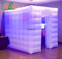 ThanBetter 2.4x2.4 cubo tubo de LED cabine de foto inflável gabinete feito em China fábrica Inflável para o preço de venda de Fornecedores de vendas de cabines fotográficas