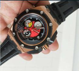 orologio da orologio per uomini Sconti 2018 n8 vendite di fabbrica di alta qualità orologi da uomo cronografo VK movimento al quarzo Design dinamico display cassa in oro rosa 45 mm