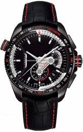 Wholesale Luxury Hand Watch Sport Men - Men's Black Sports Hot sale Luxury Men watches Automatic sport Leather   rubber strap men wrist watch T008