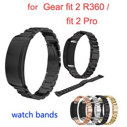 Wholesale Gears Pro - Free shipping Replacement Stainless Steel Watchbands Smart Watch Band Strap for Samsung Gear Fit 2 SM-R360  Gear Fit 2 Pro