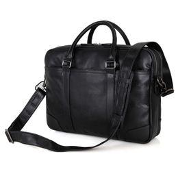 Wholesale Leather Briefcase For Laptop - J.M.D J.M.D Tanned Natural Cow Leather Handbag Men's Laptop Bag Briefcases For Business Man 7348A