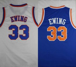 Wholesale men sleeveless tops - Cheap 33 Patrick Ewing Jersey The Hoya Destroya Basketball jerseys Top Quality Stitched