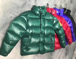 Argentina Bastante collar de pie moda brillante cara gruesa chaqueta abajo hombres y mujeres pareja estación europea servicio de pan de gran tamaño 1 unids ZHU cheap xs men jacket Suministro
