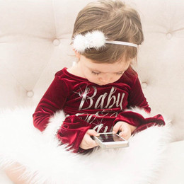 mameluco Rebajas Navidad Santa Baby Claus Niños Niñas Piel Velvet Romper Jumpsuit Outfits Regalo