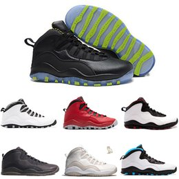 Wholesale M Powder - 2017 air retro 10 men basketball shoes Steel Grey ovo white black Powder Blue Lady Liberty Chicago GS Fusion Red Bobcats sneakers