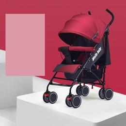 2019 räder für kinderwagen Baby kinder kinder kinderwagen liegend falten leichte gewicht doppelseitige kind vier räder kinderwagen Reise System Baby Trolley G305 günstig räder für kinderwagen