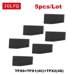 Copia del transpondedor online-5 piezas Chip de la llave del coche de alta calidad TPX6 Chip del transpondedor = carben TPX1 (4C) + TPX2 (4D) (puede repetir la copia)