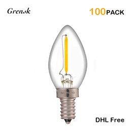 Wholesale E14 Night Light - Vintage LED Filament Light Bulb Incandescen0Kt Bulb E12 E14 Base Warm White 2700K Decorative Night Light Lamp