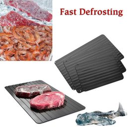 Wholesale Fast Safe - Fast Defrosting Tray Plate Kitchen The Safest Way to Defrost Meat Frozen Food Without Electricity Microwave Thaw Frozen OOA4799