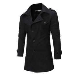 FeiTong Trench Coat 2018 Streetwear Abrigo Abrigo BlendsWinter Button Trench Coat Chaqueta de manga larga Outwear Blusa desde fabricantes