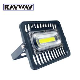 Feux anti-alentours en aluminium en Ligne-Projecteur d'extérieur RAYWAY LED 30W 50W 100W Projecteur d'extérieur COB Projecteur d'extérieur IP65 LED Projecteur d'éclairage extérieur en aluminium 110V / 220V