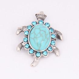 Wholesale Turtle Diy - Fashion Mix 2 colors Cheap Snap Button 18mm Noosa Turtle Ginger Snap Jewelry DIY Necklace Bracelet Accessory