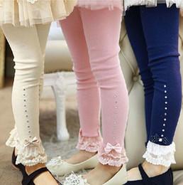Wholesale Red Leggings 3t - Spring flower girl pants baby girl leggings kids cotton fashion leggings children autumn pant babg girls cute bow pants