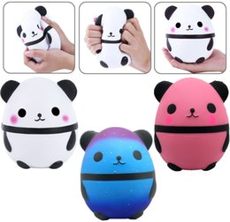 2019 ovo squishy Kawaii Panda Egg Squishy Brinquedos Super Macio Lento Rising Jumbo Squeeze Encantos Do Telefone Creme Perfumado Apaziguador Do Stress ovo squishy barato