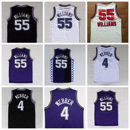 Venta al por mayor online-Hombres baratos 55 Williams Jersey 4 Webber jersey cosido Jason Chris Basketball Jerseys Wholesale College Drop Shipping Película