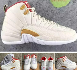 Wholesale Chinese Cheap Shoes - Retro 12 CNY Chinese New Year GS Men Basketball Shoes High Quality Cheap Retro 12s XII CNY White Red Sports Sneakers 8-13