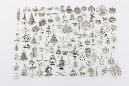 Wholesale Movie Hole - New 100pcs lot 5mm Hole-diameter Metal Christmas Loose Beads Charm DIY Jewelry Accessory Pendant For Keyring Bracelet Necklace