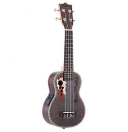 """Corde acustiche della chitarra trasporto libero online-Ukulele 21 """"acustiche Ukelele Spruce Ukulele 4 corde chitarra strumento chitarra con built-in EQ Pickup spedizione gratuita"""