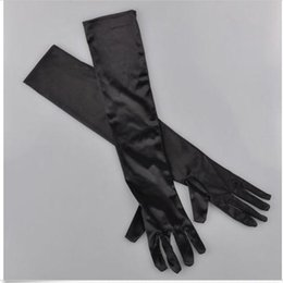 Wholesale Long Satin Opera Gloves - Hot Selling Brand New Satin Long Gloves Opera Evening Party Costume GLOVES WOMEN ACCESSORIES gants femme