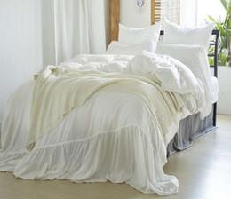 Постельное белье из микрофибры онлайн-Моющиеся сплошной цвет постельных принадлежностей 3 шт. Microfiber постельное белье Nordic стиль пододеяльник комплект простыня