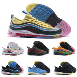 Wholesale cheap rainbow shoes - 2018 Cheap 97 1 VF SW Sean Wotherspoon Hybrid Rainbow 97 Ultra SE Sports Running Shoes Mens Women Retro Designer 97s Top Sneakers Size 36-46