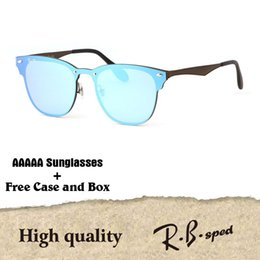 Wholesale shield glasses - 1pcs wholesale - Brand designer sunglasses men women High quality Metal Frame uv400 lenses fashion glasses eyewear with free cases and box