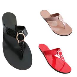 Catene di spiaggia online-Donna Donna estate Sandalo catena casual scarpe casual mocassini Infradito Spiaggia Sandalias Femininas Flat Jelly Designer Sandali outdoor slipper
