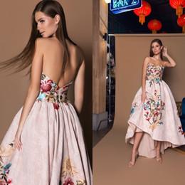 Heißes rosa hallo kleid online-Heißer Verkauf Rosa Abendkleider Ballkleid Liebsten Backless Sweep Hallo Lo Drapierte Stickerei Spitze Satin Abendkleid