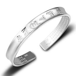 2019 bracelet 999 S 999 Encre De L'eau Langue Tibétaine Seigneur Des Bracelets Manchette Little Gap Bouddha Perles Bracelets Femmes Spécial Antique À La Mode Bracelet promotion bracelet 999