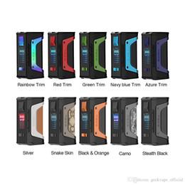 Authentic Geekvape Aegis lenda TC VW Box Mod Dual 18650 Chipset 200 V Chipset Power Vape Mods Para Original Aero Malha Tanque 100% Genuíno de