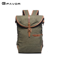 a3aa18d477 2018 New Men Waterproof Canvas Backpacks Solid Large Capacity Leather  Teenagers Vintage Casual Rucksack Travel Daypack