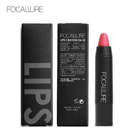 Argentina FOCALLURE Brand 19 colores mate lápiz labial cosméticos a prueba de agua Labios maquillaje de belleza fáciles de llevar Mate Lip Pencil Crayon Sitck FA22 Suministro