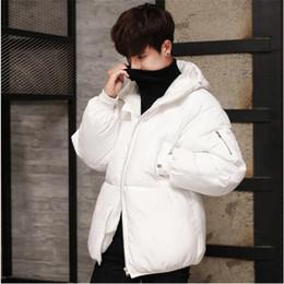 2018 Men Fashion Black Puffer Daunenjacke warme Winter Licht Mantel Outwear  gepolsterte Dicke mit Kapuze Mantel junge männliche f926047ebf