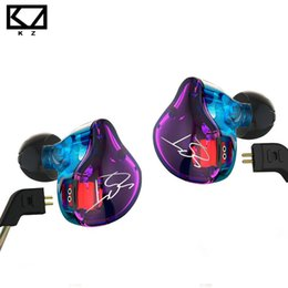 Wholesale ba silver - KZ ZST Colorful Balanced Armature With Dynamic In-ear Earphone BA Driver Noise Cancelling Headset With Mic Replacement Cable