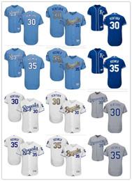Wholesale Royal Jerseys - custom Men's Women Youth Majestic KC Royals Jersey #35 Eric Hosmer 30 Yordano Ventura Home Nary Blue Baseball Jerseys