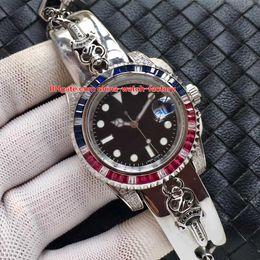 Wholesale Black Sapphire Bracelet - 3 Color Luxury High Quality Watch 40mm 116610 Diamond Bezel Skull Head Carved Bracelet Asia 2813 Movement Mechanical Automatic Mens Watches