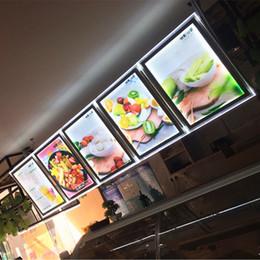 Menú de restaurantes online-5 UNIDS TAKEAWAY ACRÍLICO MENÚ DE MARCO CAJA DE LUZ SIGN LED SIGN A2 LED MENU PANTALLAS PANELES PARA RESTAURANTE