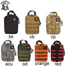 borse tattiche Sconti SINAIRSOFT Outdoor Tactical Medical Kit di pronto soccorso IFAK Utility Pouch Borsa di emergenza per Vest Belt Belt Waist Pack EMT Multifunzionale