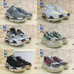 Wholesale Women S White Rubber Shoes - Wholesale Luxury Triple-S Designer Wrap Sneakers Men Women Running Shoes New Color Red Silver Black Grey Sports Persona Boots