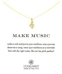 Wholesale Gold Music Note Necklace - Dogeared Classical Notes Choker Necklaces With Card Gold Silver Pendant Necklace For Fashion Women Jewelry MAKE MUSIC