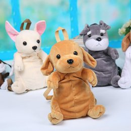 Wholesale Toy Compartments - Kids Cute Cartoon Canine Puppy Dogs Backpack Boy Plush 3D Labrador Kindergarten Small School Bag For Children Toys Birthday Gift