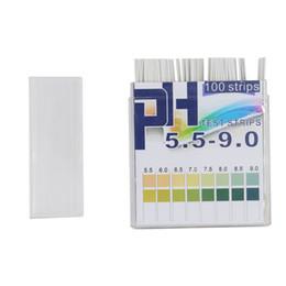 Tiras de prueba de fuego online-Rango 5.5-9.0 PH Indicador alcalino Papel Agua suelo Litmus ph tiras reactivas 30% de descuento