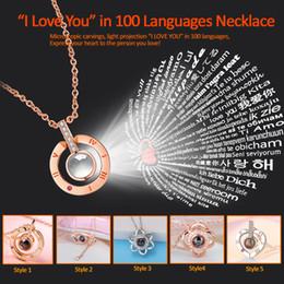 Wholesale Je t aime en langues collier collier d amour projeté de sculptures en argent sterling