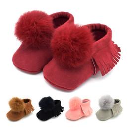 8c45118e727 Moda Casual Bebê Infantil Crianças Meninas Botas de Inverno Criança Berço  Macio Sapatos de Algodão Quente Sneakers 0-18 M Rosa Cinza Vermelho
