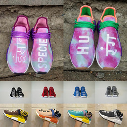 Wholesale Big Prints Canvas - Big Size Human Race Mens Shoes Equality Holi Blank Canvas Runner Sport Shoes Men Women human race Running Shoes Size 36-47