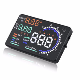 Wholesale Automobile Instruments - car Heads-up Display Intelligent Digital OBD Speedometer Instrument Automobile Temperature Speed and Fuel Consumption Display A8 HUD